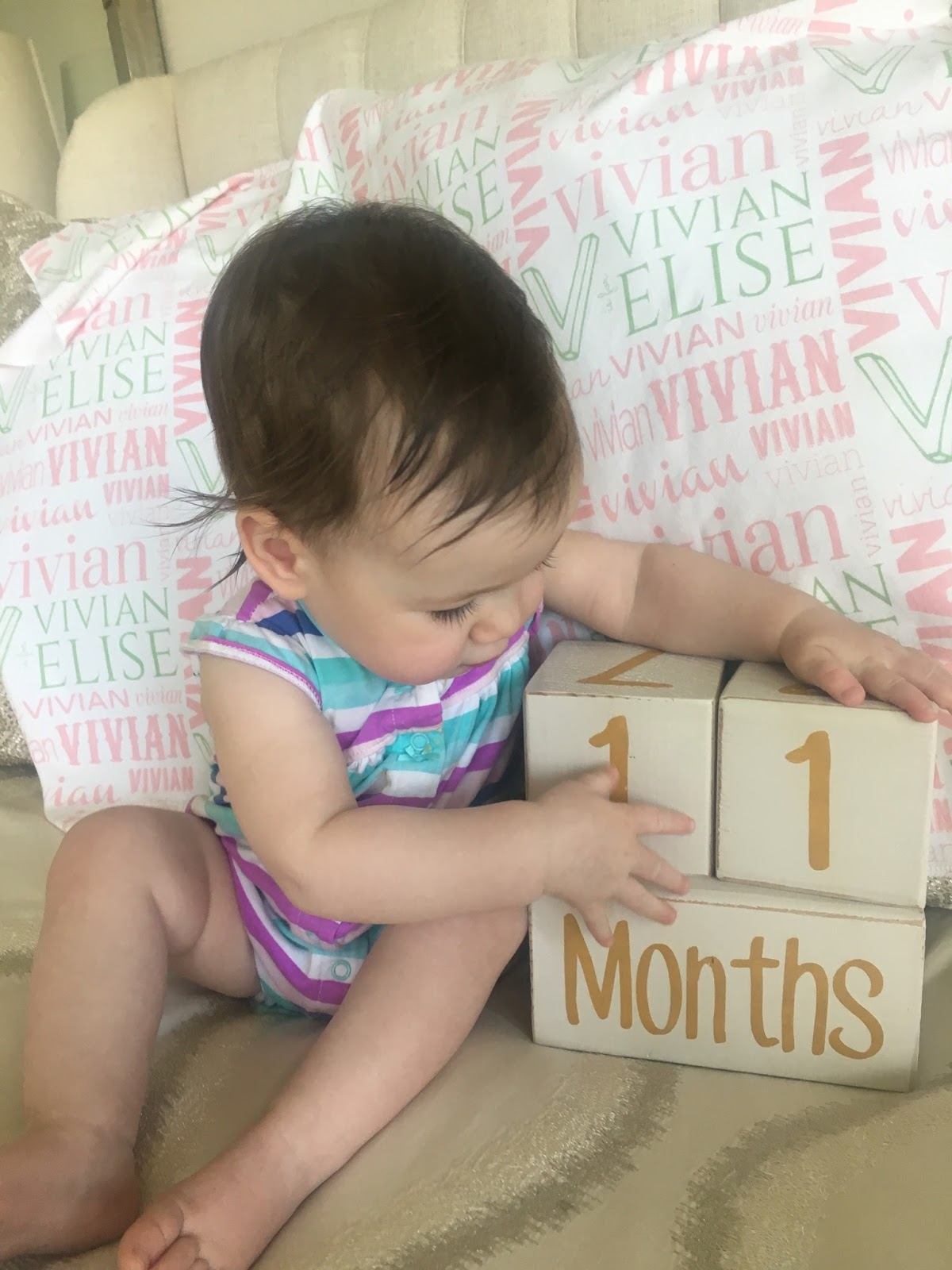 Baby Only Drinks 2 Oz At A Time Team Bruns Blog Vivian Elise Is 11 Months