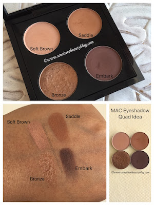 MAC Eyeshadow Combo with Soft Brown Saddle Bronze and Embark