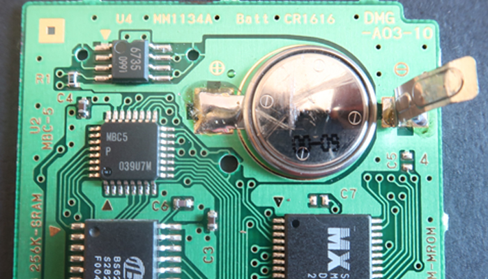 How to change a Game Boy game battery without soldering