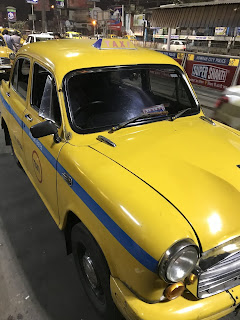 I classici taxi gialli di Kolkata