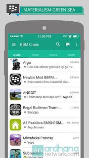 Free Download BBM Materialism Green Sea V2.11.0.18 Apk Terbaru