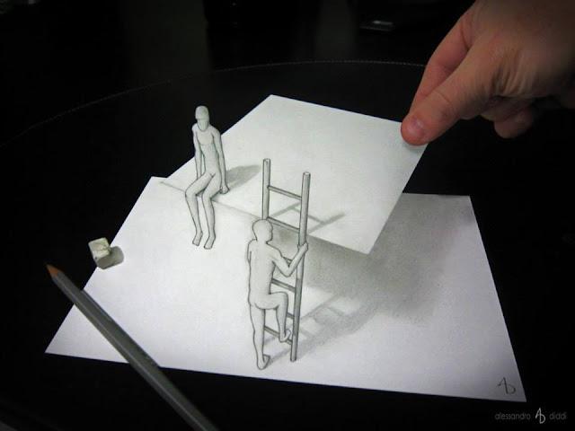 ilusi gambar tiga dimensi yang keren dan menakjubkan serta kreatif-30