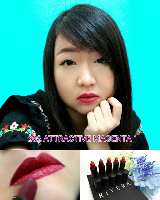 Rivera Absolute Matte Lipstick 202 attractive Magenta