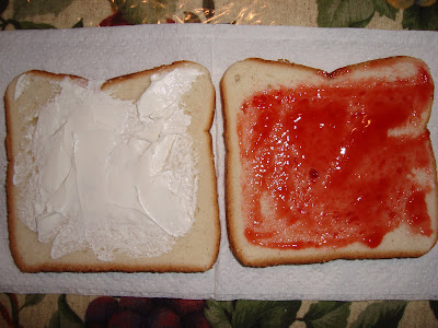 cream cheese & strawberry jam