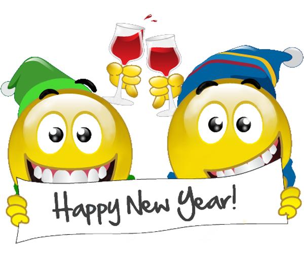 Happy New Year Smiley Faces Emoticons
