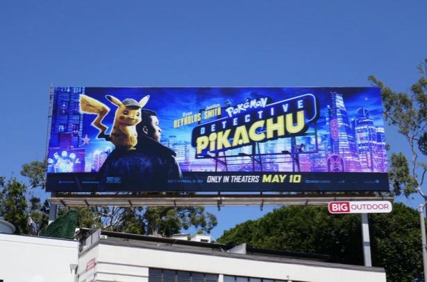 Detective Pikachu movie billboard