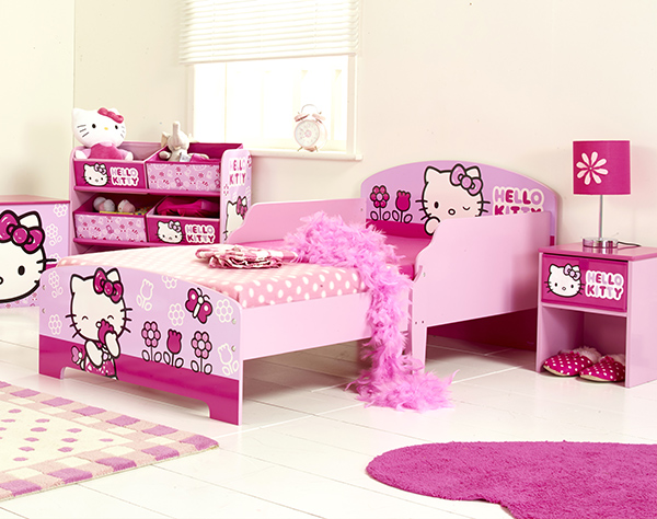 pink heart string hello kitty bedroom designs every girl 16748 | hkbed5