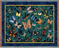 Butterfly Blanket Throw Tapestry Butterflies Dance