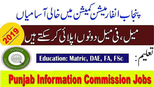 Punjab Information Commission Jobs 2019 Application Form