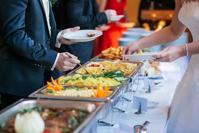 food, buffet service, guest