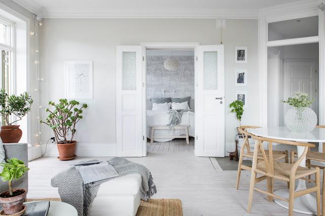 Minimalism scandinav în decorul unui apartament de 73 m² din Suedia