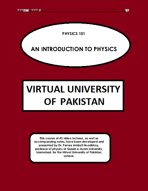 pdf Lecture Handouts : PHY101 - PHYSICS , Virtual University of