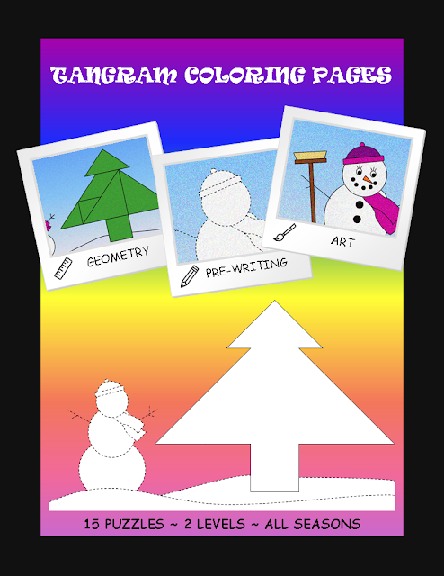 tangram coloring pages - photo#34