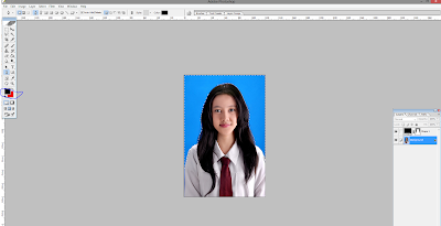 Cara mengganti background foto di potoshop
