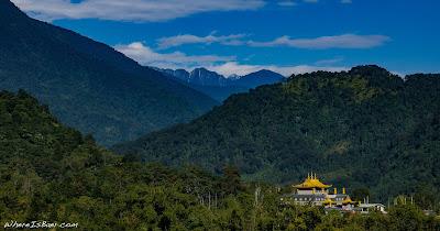 Buddhist monastery outside of Tuting, Arunachal Pradesh India Himalayas, kayaking WhereIsBaer.com  Chris Baer