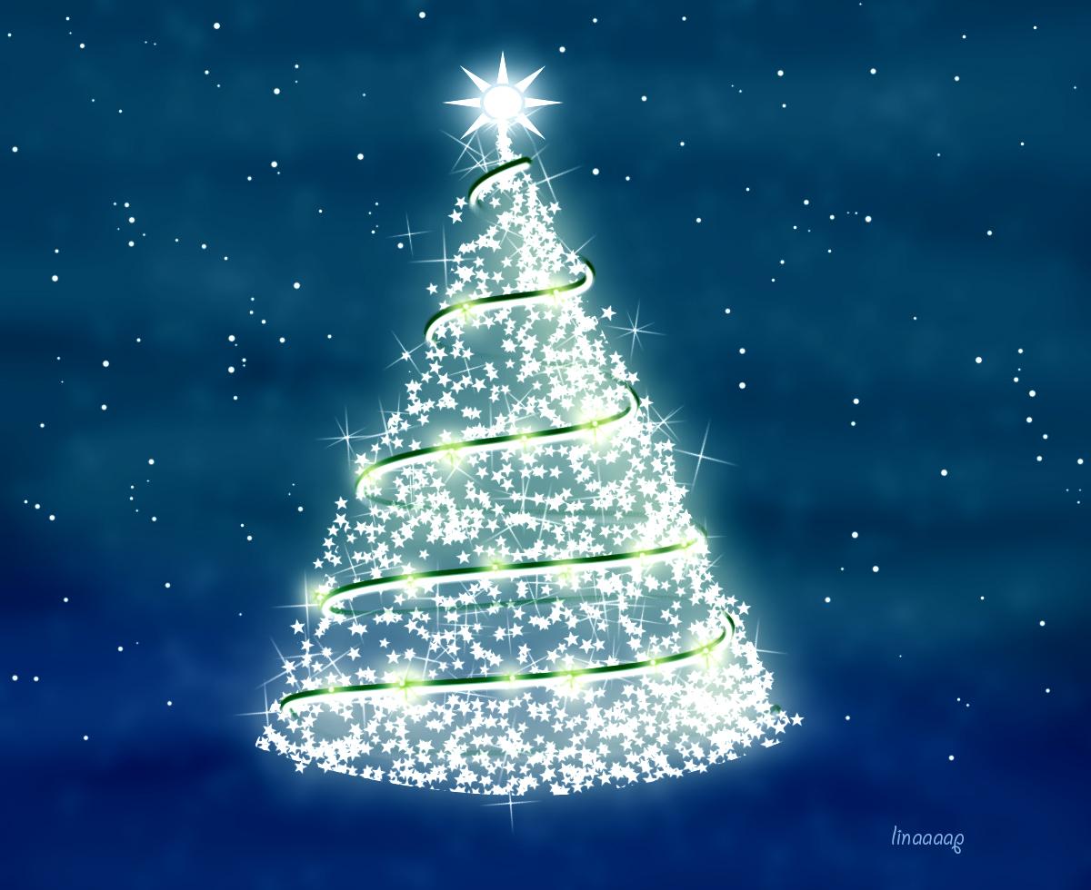 χριστουγεννιάτικο δέντρο με φώτα photoshop