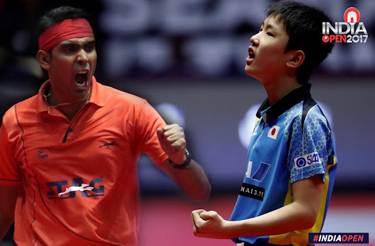Achanta Sharath Kamal plays Harimoto the Japanese prodigy in an attempt to reach the finals