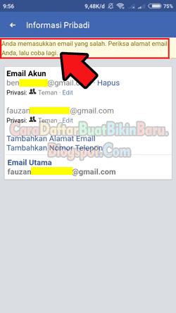 Ubah Hapus Email Utama Fb Cara Mengganti Email Facebook Di Hp Cara Daftar Buat Bikin Baru