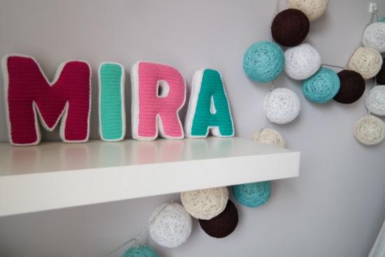 Szydełkowe literki MIRA