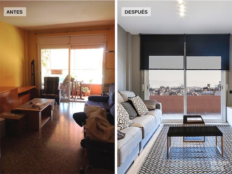 El antes y despues de una vivienda reformada por completo - Reforma piso pequeno antes y despues ...