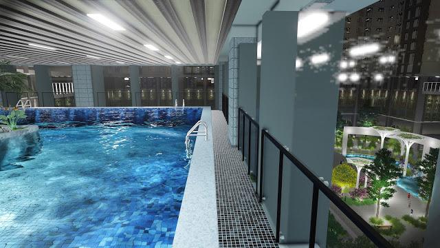 Bể bơi bốn mùa chung cư Eco Dream Nguyễn xiển