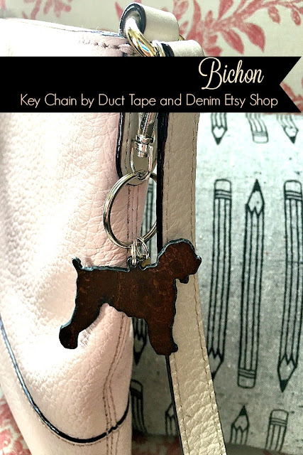 Bichon Key Chain