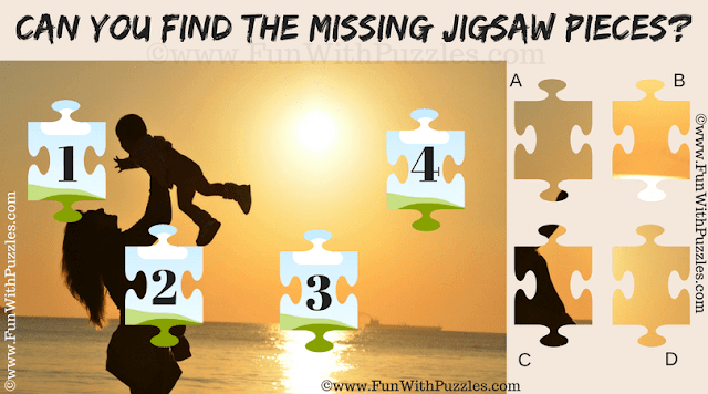 It is Jigsaw Puzzle in which one has to match the four missing pieces in the given puzzle image