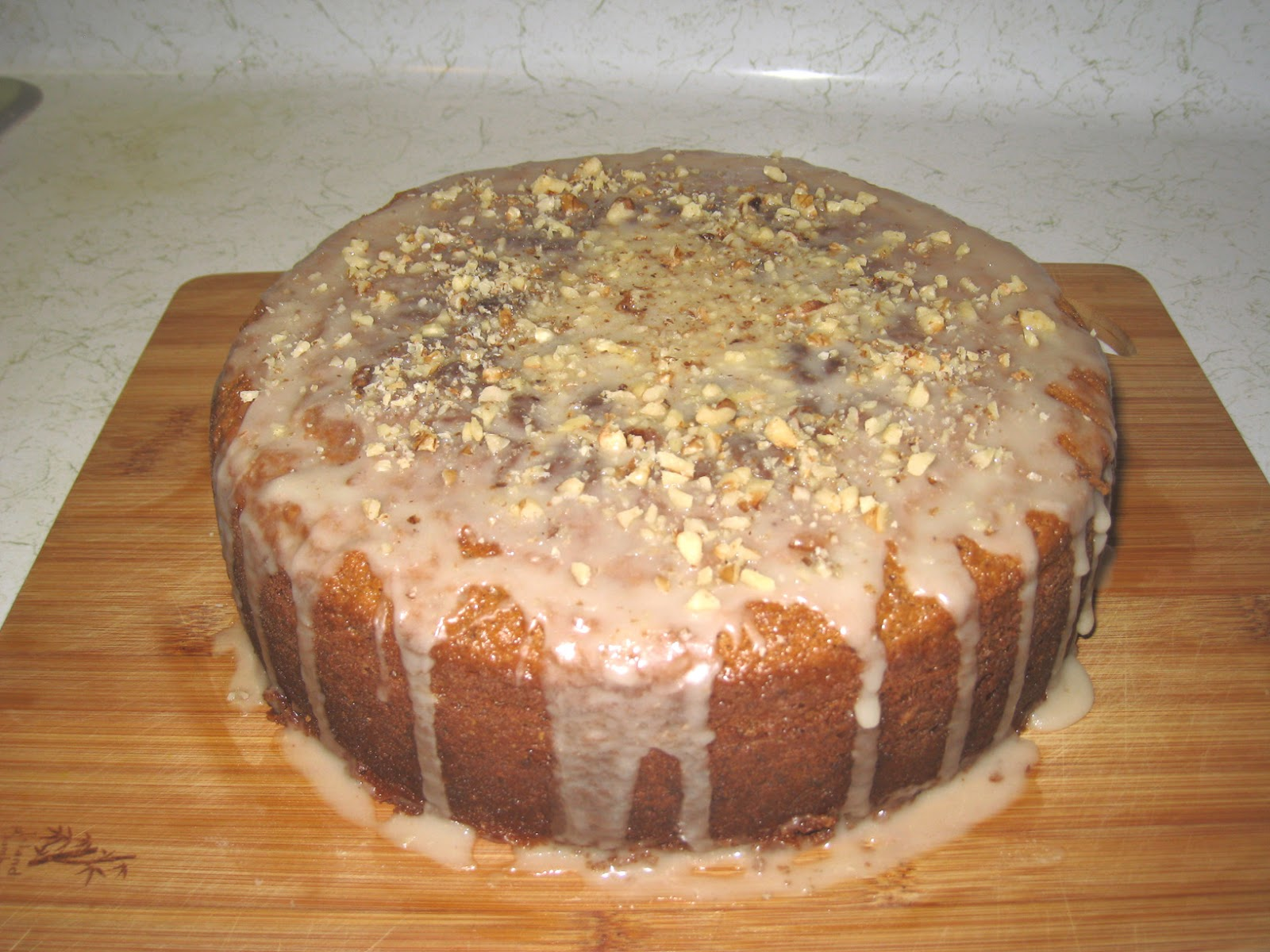 Nutmeg Cake with Cognac and Walnut Glaze