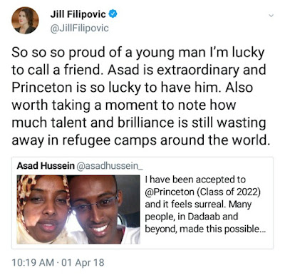 22-year-old Somali migrant born and raised in Kenyan IDP camp accepted into prestigious Princeton University