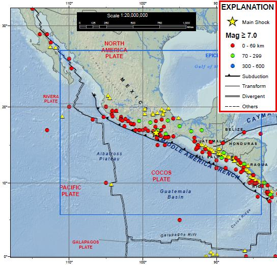 Tectonic Setting of Magnitude 7.4 Earthquake of Oaxaca, Mexico, 2012 March 20