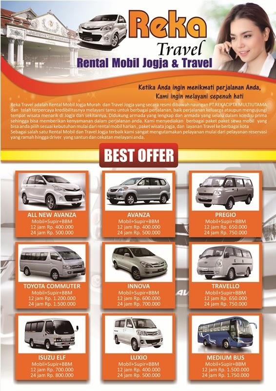 Contoh Desain Brosur Rental Mobil