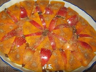 тыква запекаем с яблоками и рисом