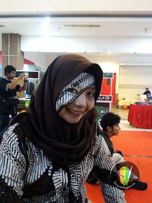 face painting batik