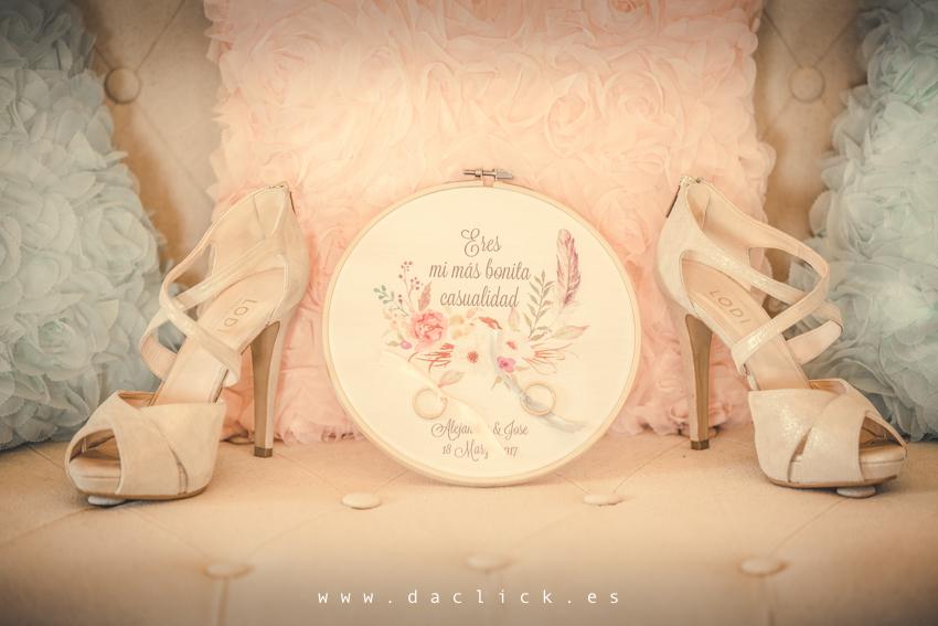 zapatos de novia lodi bastidor con anillos