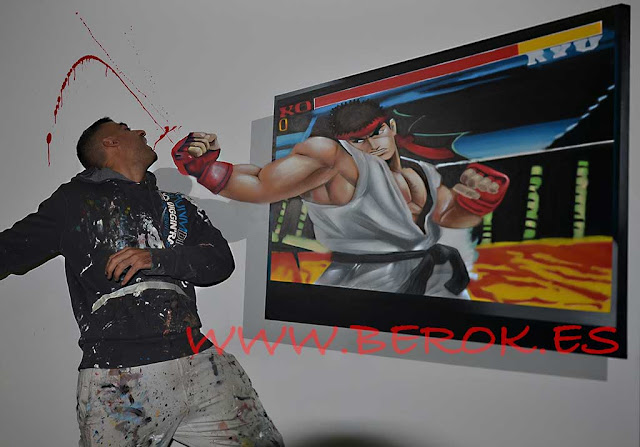 graffitis 3d ryu street fighter
