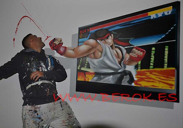 graffitis 3d ryu street fighter