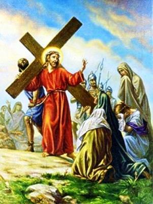 Viacrucis 8 - Jesus Encuentra A Las Santas Mujeres Que Lloran Por El