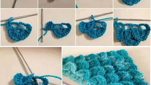 Cómo tejer punto cocodrilo al crochet - fotos y video