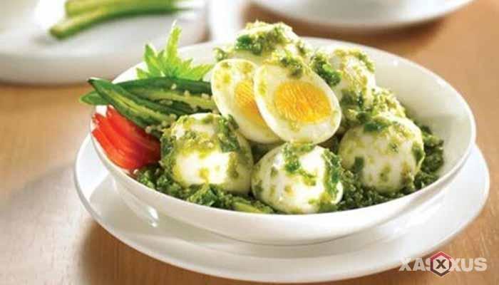 Resep telur balado cabai hijau