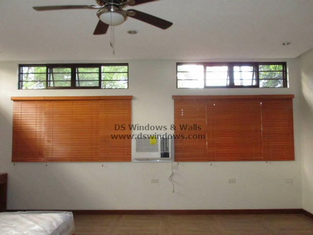Wooden Blinds Installed at Malanday, Marikina Metro Manila