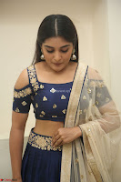 Niveda Thomas in Lovely Blue Cold Shoulder Ghagra Choli Transparent Chunni ~  Exclusive Celebrities Galleries 072.JPG