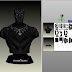 Papercraft Bust Black Panther Civil War