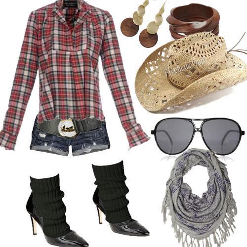 f1e2b8db8 As mulheres adoram andar na moda, e nada melhor do que o estilo Country, um  estilo que lembra interior e Cowboys. O estilo country não tem estação  certa ...