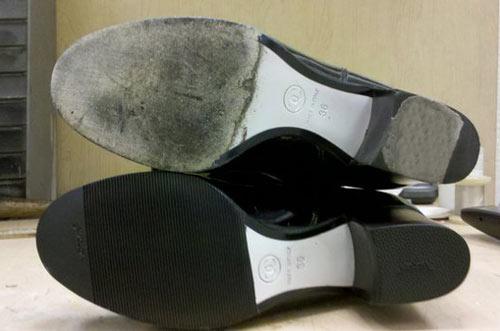 khắc phục giày da nam công sở bị xuông cấp