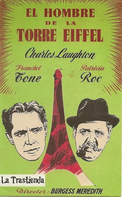 Programa de Cine - El Hombre de la Torre Eiffel (Troquelado) - Charles Laughton - Franchot Tone