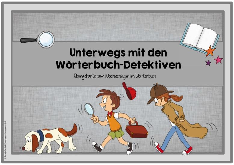 Ideenreise Blog Wörterbuch Detektive übungskartei