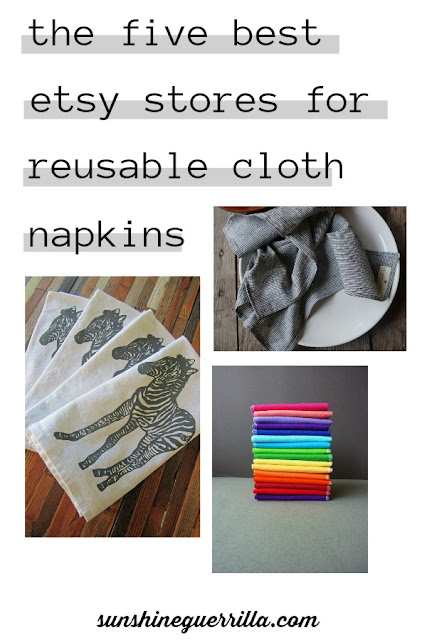 The Five Best Etsy Stores for Reusable Cloth Napkins