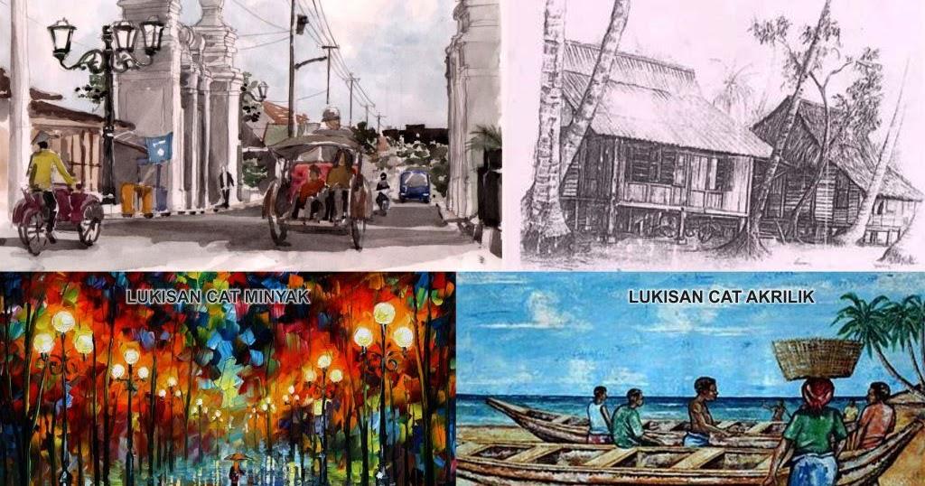Pengertian Dan Contoh Karya Seni Rupa 2 Dimensi Lengkap Seni Budayaku