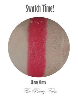 pixy lasting matte lipstick cheery cherry swatch