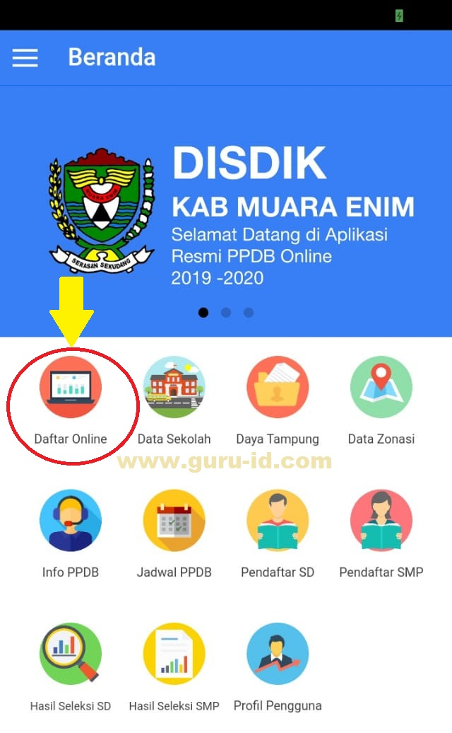 Aplikasi Android PPDB Online Muara Enim 2019/2020 - Info ...
